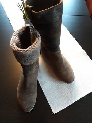 Alberto Gozzi Slip-on laarzen lichtbruin Leer