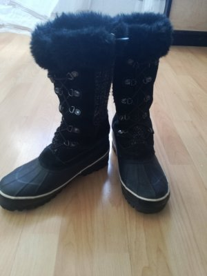 Lands' End Winter Boots black