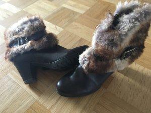 Winterstiefel mit Fake Fur Detail, dunkelbraun, 37