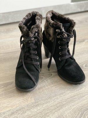 Tamaris Heel Boots black-grey