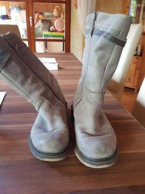 Tamaris Fur Boots dark grey-taupe