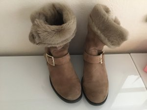 Jimmy Choo Winter Booties light brown leather