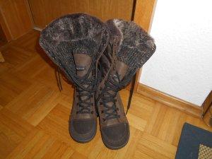 Quechua Winter Boots dark brown mixture fibre