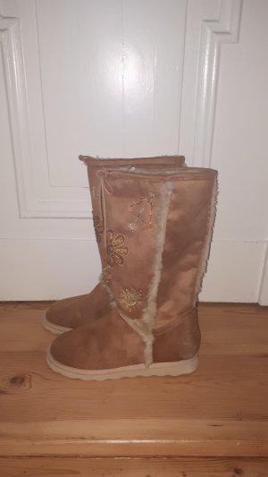 Graceland Snow Boots sand brown
