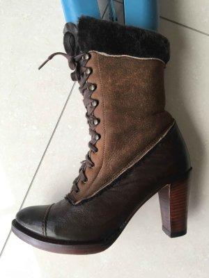 Lace-up Boots brown-dark brown leather