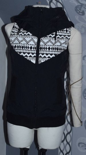 Quilted Gilet black-white