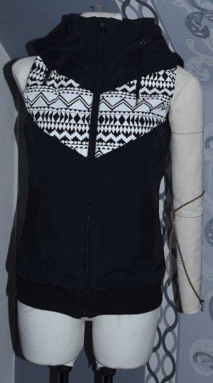 Chaleco acolchado negro-blanco