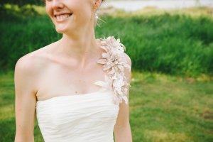 Agnes Vestido de novia blanco-malva Poliéster