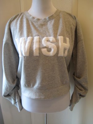 WISH Sweater Pulli Grau Weiss Gr S