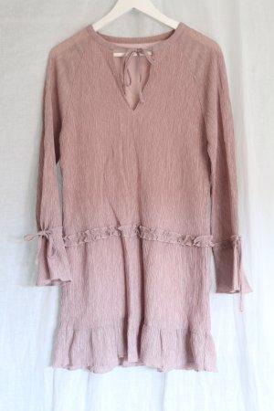 Wish the Label neu nude Kleid Rosa Rüschen Schleife Mittelalter Vintage