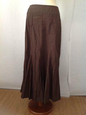 Wissmach Maxi Skirt brown mixture fibre