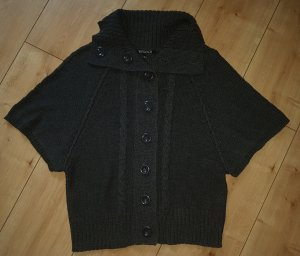 Wissmach Short Sleeve Knitted Jacket anthracite cotton