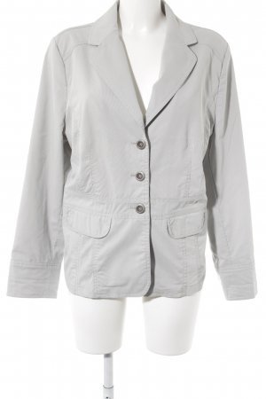 Wissmach Sweat Blazer light grey striped pattern casual look
