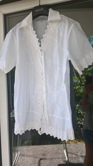 Wissmach Crash Blouse white mixture fibre