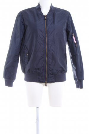 Witty Knitters Chaqueta bomber azul look casual
