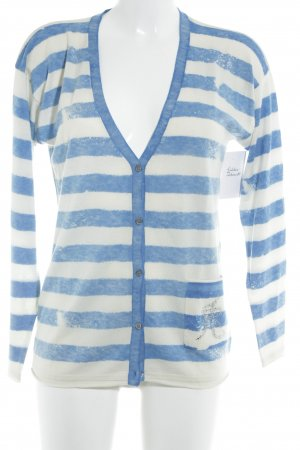Witty Knitters Cardigan creme-neonblau Streifenmuster Casual-Look
