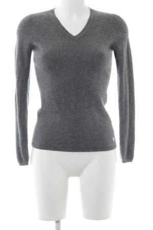 Witty Knitters Sudadera de cachemir gris estilo «business»