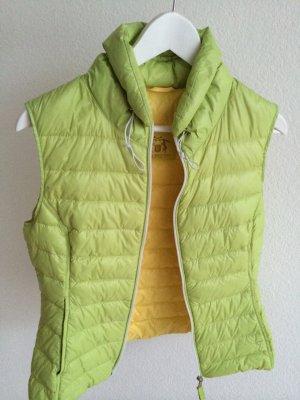 Witty Knitters, Daunensteppweste, grün/gelb, Gr. XS