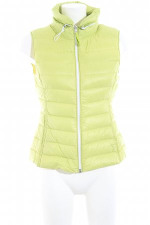 Witty Knitters Daunenweste grasgrün-gelb Steppmuster Casual-Look