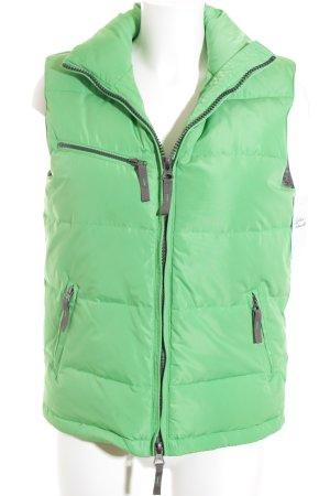 Witty Knitters Daunenweste hellgrün Steppmuster sportlicher Stil