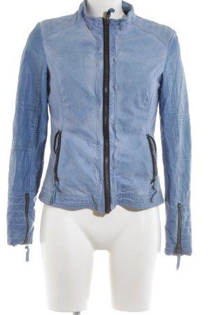 Witty Knitters Jeansjacke blau Casual-Look
