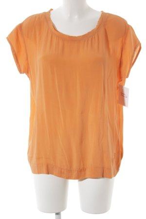 Witty Knitters Kurzarm-Bluse neonorange Street-Fashion-Look