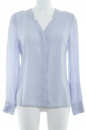 Witty Knitters Langarm-Bluse himmelblau Business-Look