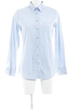 Witty Knitters Langarm-Bluse himmelblau klassischer Stil