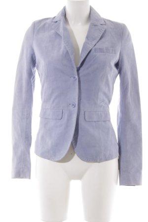 Witty Knitters Lederjacke himmelblau-kornblumenblau Casual-Look