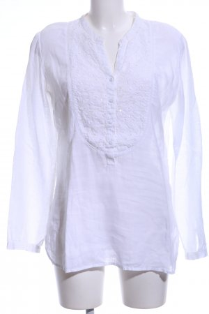 Witty Knitters Linen Blouse white casual look