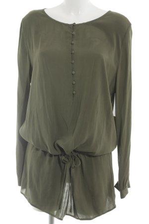 Witty Knitters Long-Bluse olivgrün Elegant