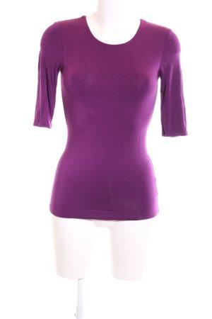Witty Knitters Longsleeve lila Business-Look