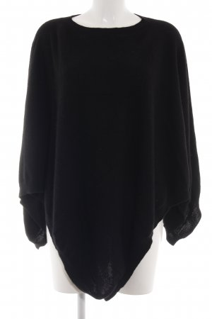 Witty Knitters Poncho schwarz Casual-Look