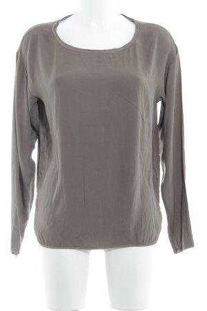 Witty Knitters Camicetta da notte marrone-grigio stile casual