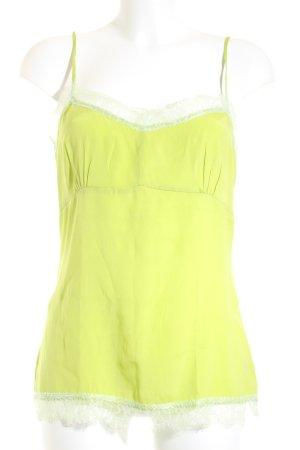 Witty Knitters Seidentop wiesengrün-blassgrün Romantik-Look