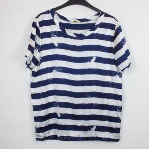 Witty Knitters Shirt Seidenshirt Gr. S blau weiß gestreift (18/3/202)