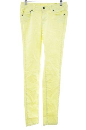 Witty Knitters Skinny Jeans blassgelb schlichter Stil