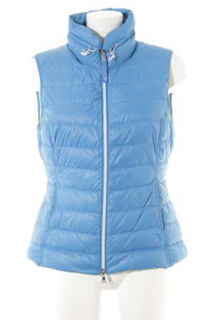 Witty Knitters Quilted Gilet cornflower blue quilting pattern casual look