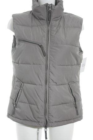 Witty Knitters Gewatteerd vest taupe-grijs atletische stijl