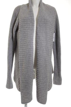 Witty Knitters Strickjacke grau Casual-Look