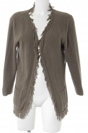 Witty Knitters Strickjacke khaki Casual-Look