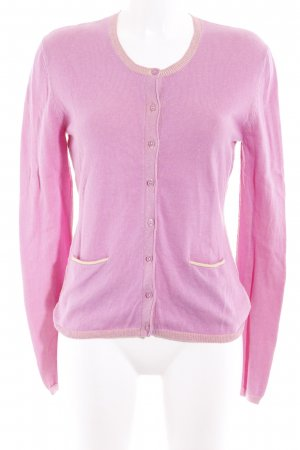 Witty Knitters Strickjacke violett-neongelb meliert Casual-Look