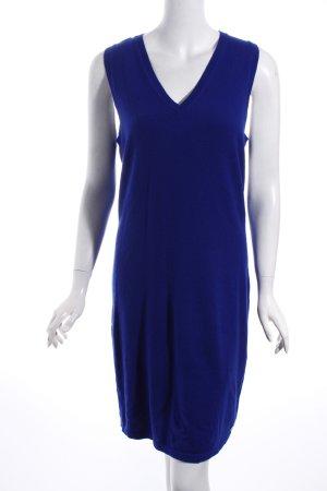 Witty Knitters Strickkleid blau schlichter Stil