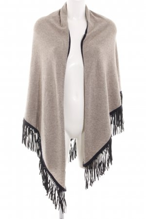 Witty Knitters Knitted Poncho natural white-black flecked casual look