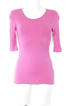 Witty Knitters T-Shirt magenta schlichter Stil