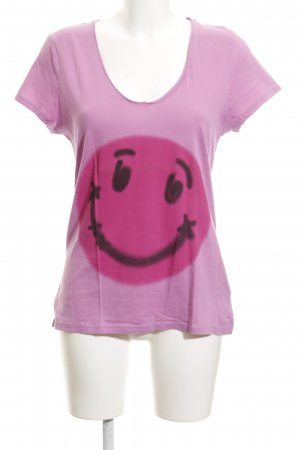 Witty Knitters T-Shirt pink Motivdruck Casual-Look
