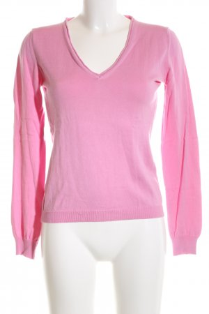 Witty Knitters V-Ausschnitt-Pullover pink Casual-Look