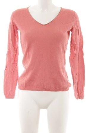 Witty Knitters V-Ausschnitt-Pullover rosa-altrosa klassischer Stil