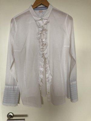 Boss Orange Blusa de manga larga blanco Algodón