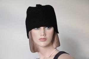 Cappello da aviatore nero Lana